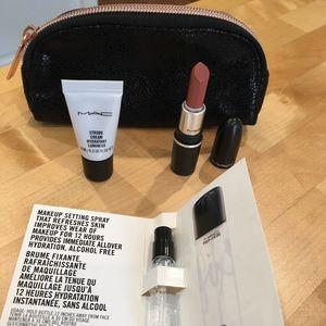 Mac bundle. Includes small makeup bag and makeup